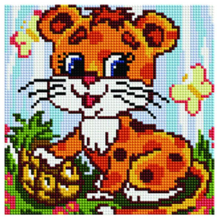 "Алмазная мозаика Paintboy Original""Маленький леопард"" 20х20"