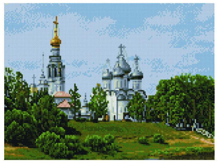 "Алмазная мозаика Paintboy Original""Монастырская тишина"" 30х40"