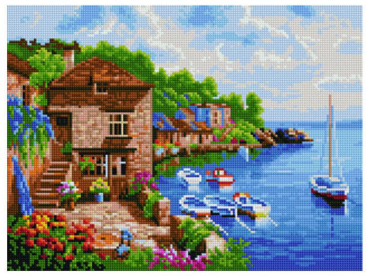 """Алмазная мозаика Paintboy Original""""Морской воздух"""" 30х40"""