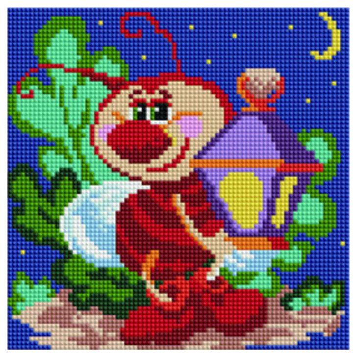 """Алмазная мозаика Paintboy Original""""Ночная пчелка"""" 20х20"""