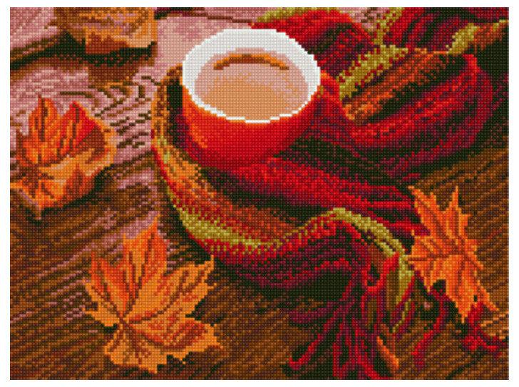 """Алмазная мозаика Paintboy Original""""Согревающий осенний чай"""" 30х40"""