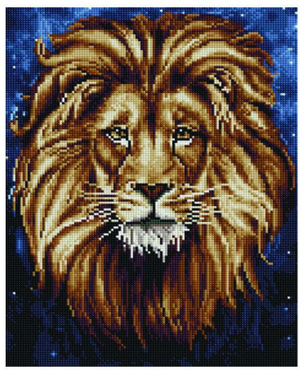 """Алмазная мозаика Paintboy Original""""Созвездие льва"""" 30х40"""
