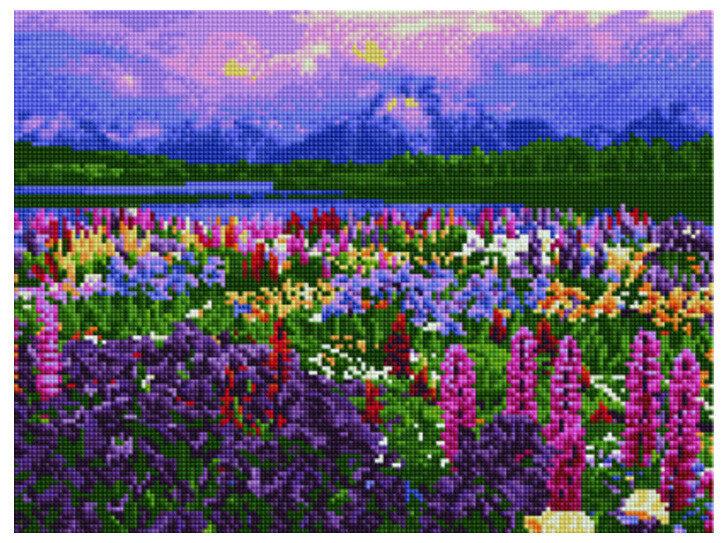 """Алмазная мозаика Paintboy Original""""Цветение алтайских трав"""" 30х40"""