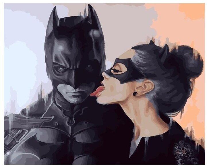 """Живопись на холсте Paintboy Original """"Бэтмен и женщина-кошка"""", 40х50 см, PK24059"""
