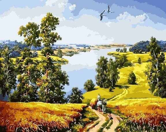 """Живопись на холсте Paintboy Original """"Созревшие хлеба (Гордеев)"""", 40х50"""