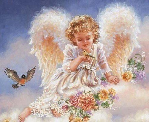 Картина по номерам 40х50 - Ангел в небесах