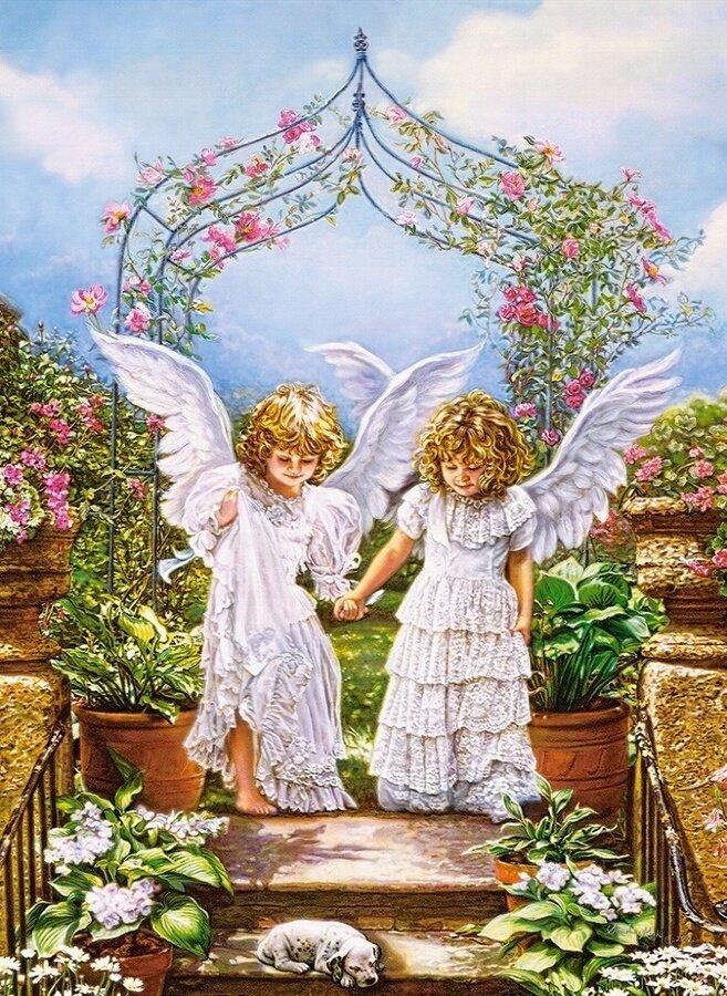 Картина по номерам 40х50 - Ангелочки
