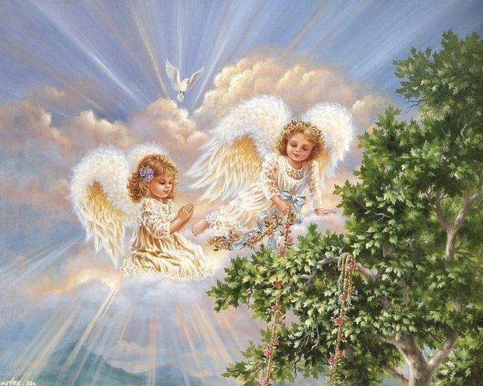 Картина по номерам 40х50 - Ангелы в небесах