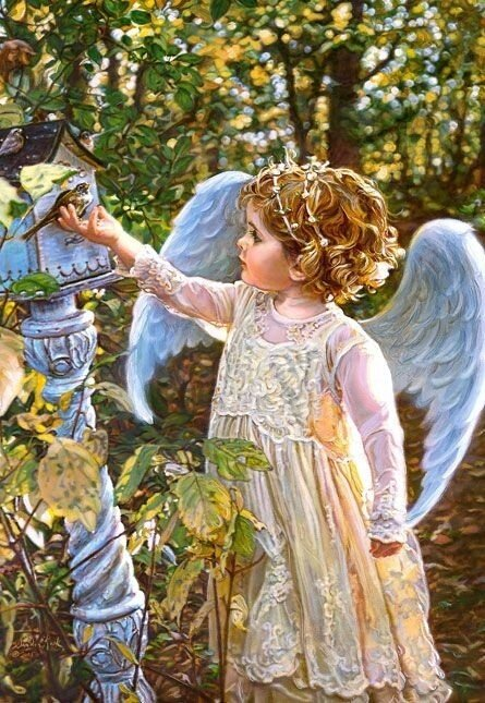 Картина по номерам 40х50 - Ангельская забота