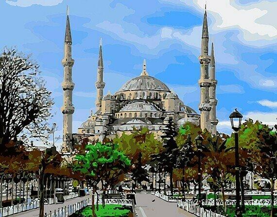 Картина по номерам 40х50 - Голубая мечеть (Султанахмет) вТурции