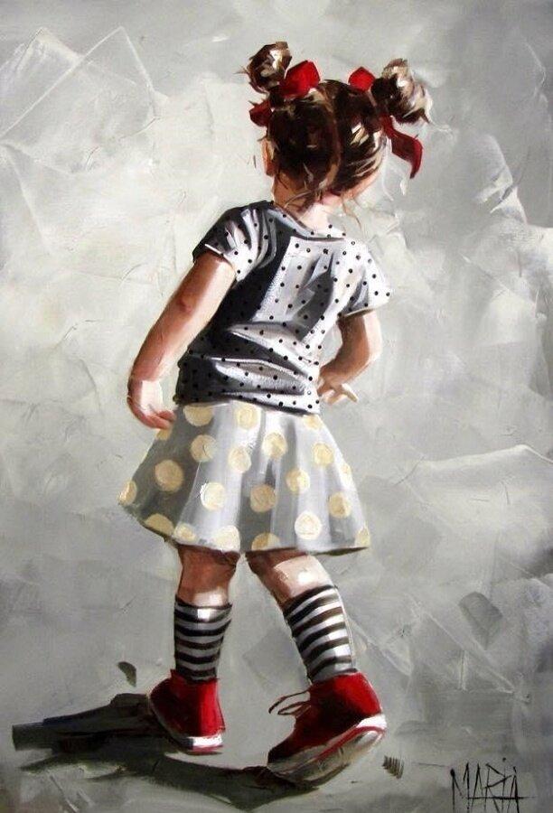 Картина по номерам 40х50 - Девочка