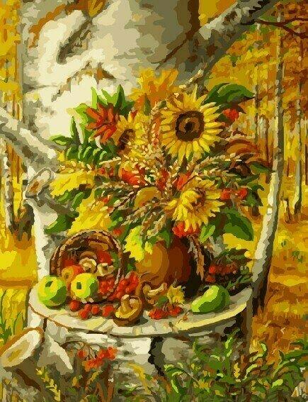 Картина по номерам 40х50 - Лесной натюрморт
