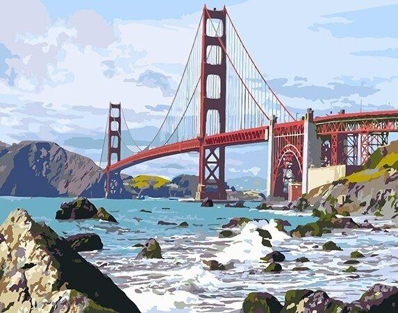 Картина по номерам 40х50 - Мост Золотые Ворота