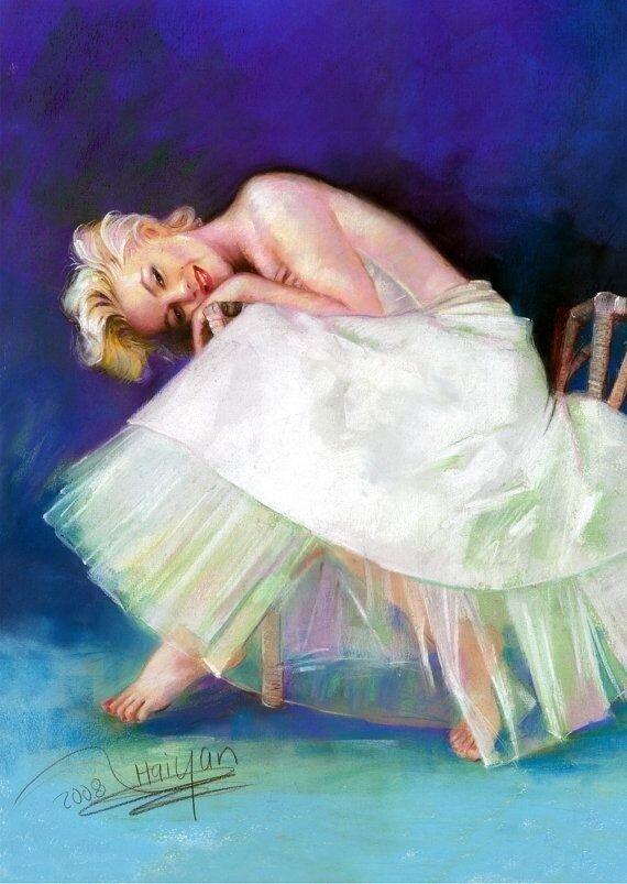 Картина по номерам 40х50 - Нежная Мэрилин