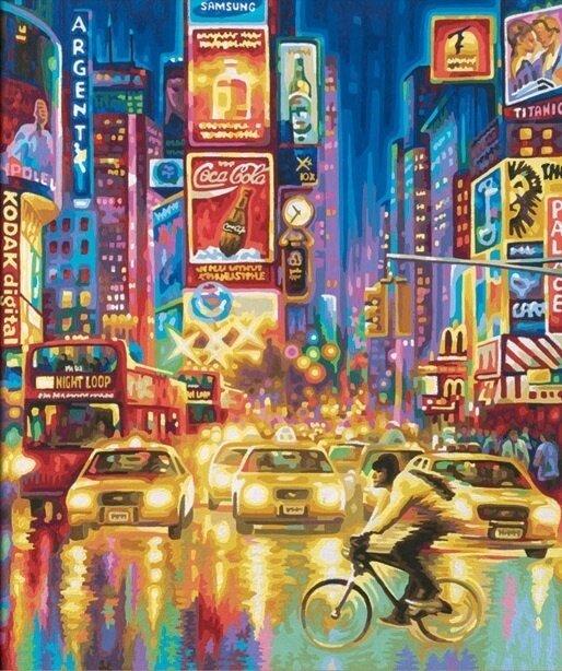 Картина по номерам 40х50 - Ночной Нью-Йорк