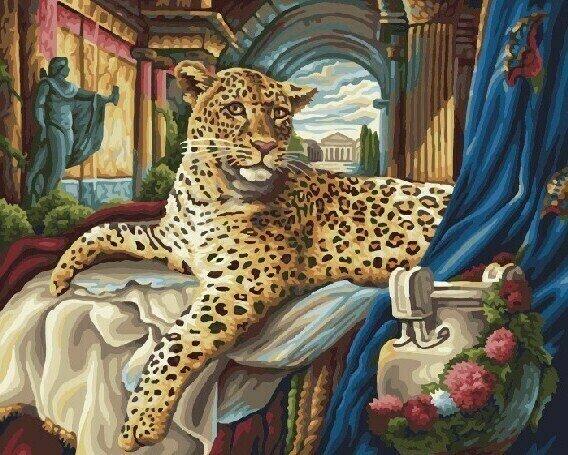 Картина по номерам 40х50 - Римский леопард