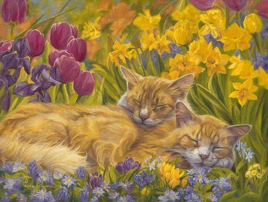 Картина по номерам 40х50 - Сонное царство в цветах