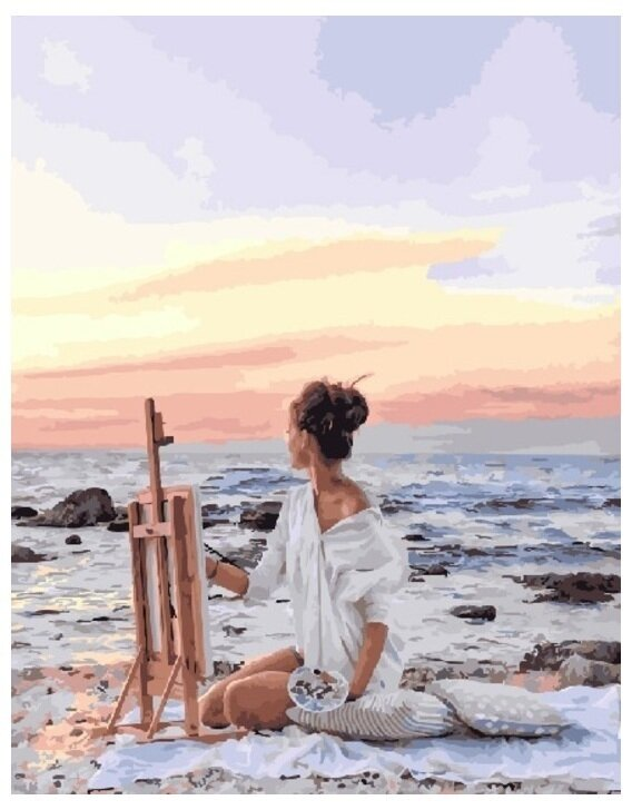Картина по номерам GX 25437 Жизнь у моря 40*50