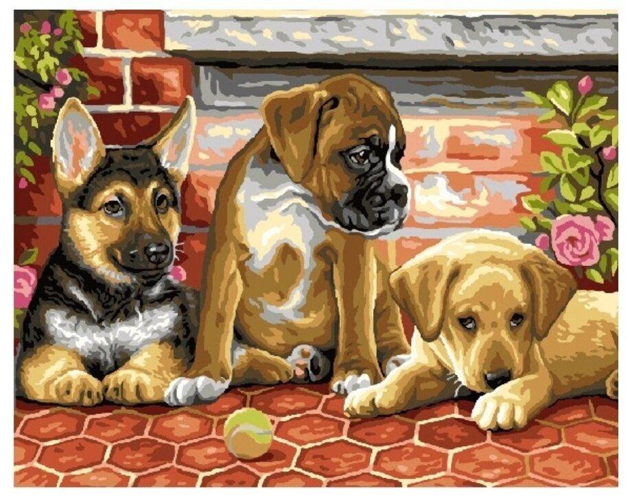 Картина по номерам GX 6714 Верные друзья 40*50