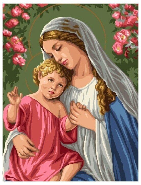 Картина по номерам GX 6718 Богородица с младенцем 40*50