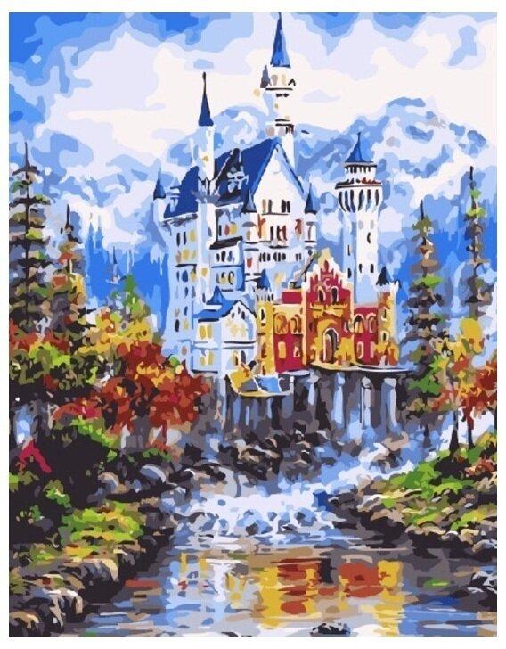 Картина по номерам GX 7188 Замок Нойшванштайн осенью 40*50