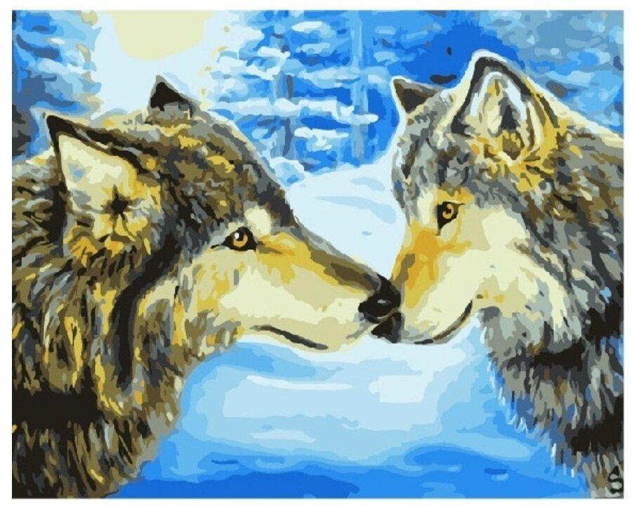 Картина по номерам GX 7194 Любовь волков 40*50
