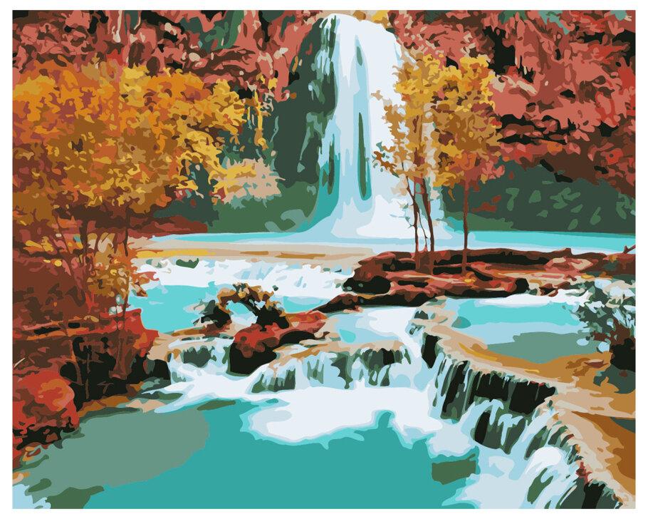 Картина по номерам GX 7253 Водопад 40*50