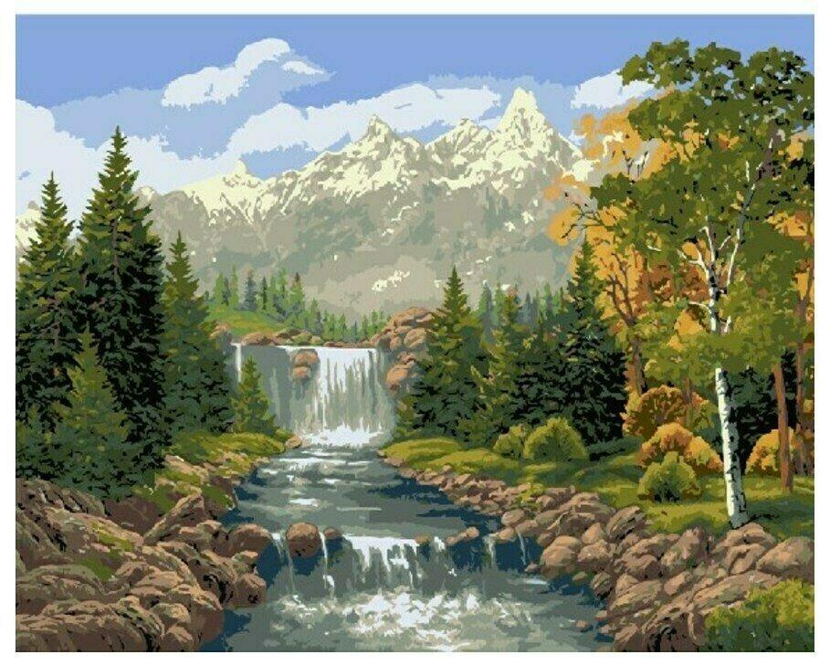 Картина по номерам GX 7361 Водопад 40*50