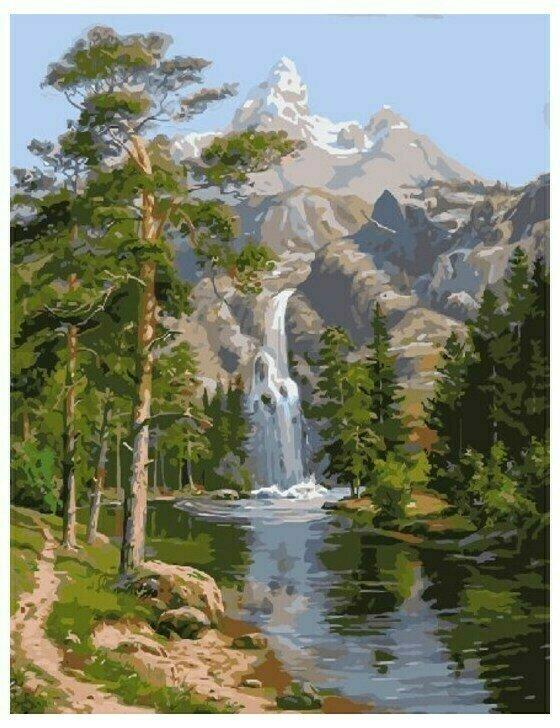 Картина по номерам GX 7364 Горный пейзаж 40*50