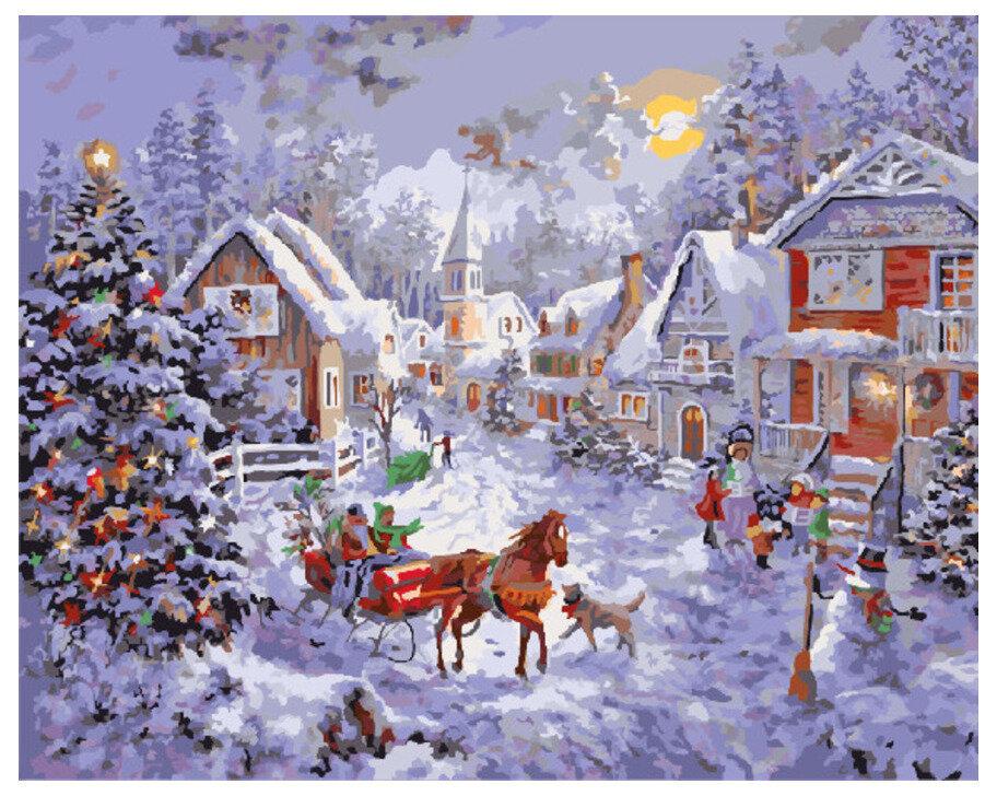 Картина по номерам GX 7429 Рождественский рассвет 40*50