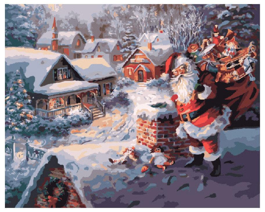 Картина по номерам GX 7430 Санта Клаус 40*50