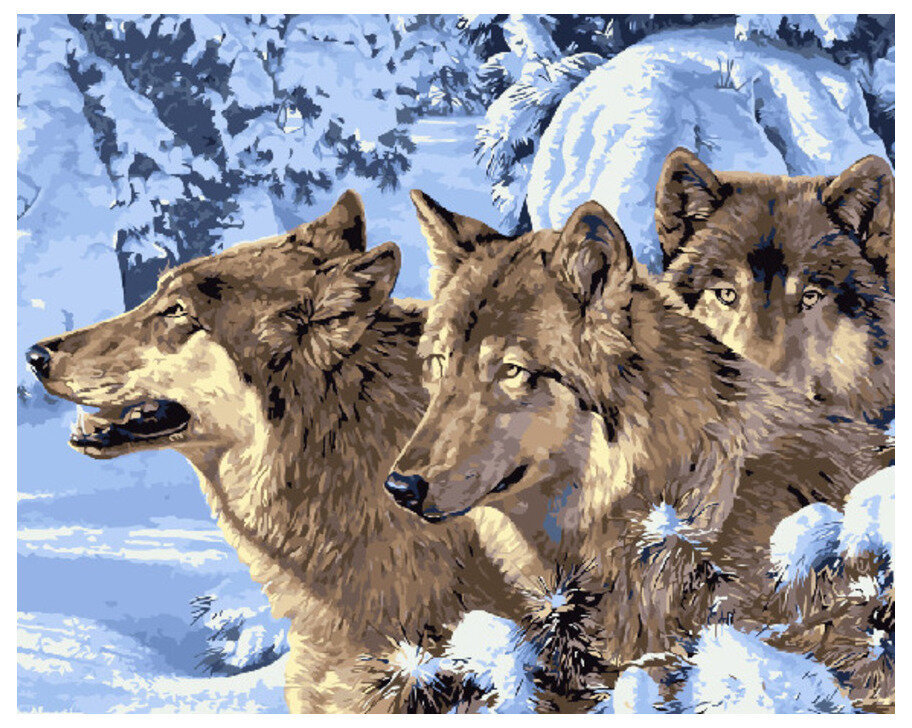 Картина по номерам GX 7464 (GX 4105) Суровой зимой 40*50