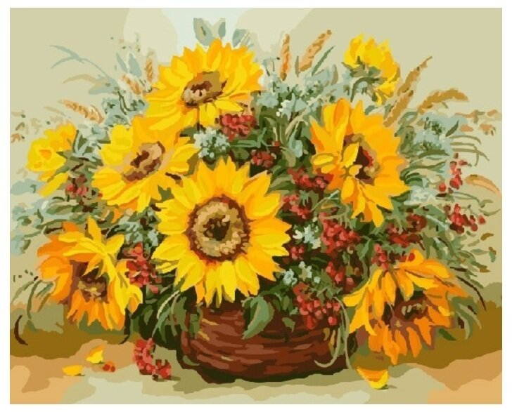 Картина по номерам GX 7536 Солнечный букет 40*50