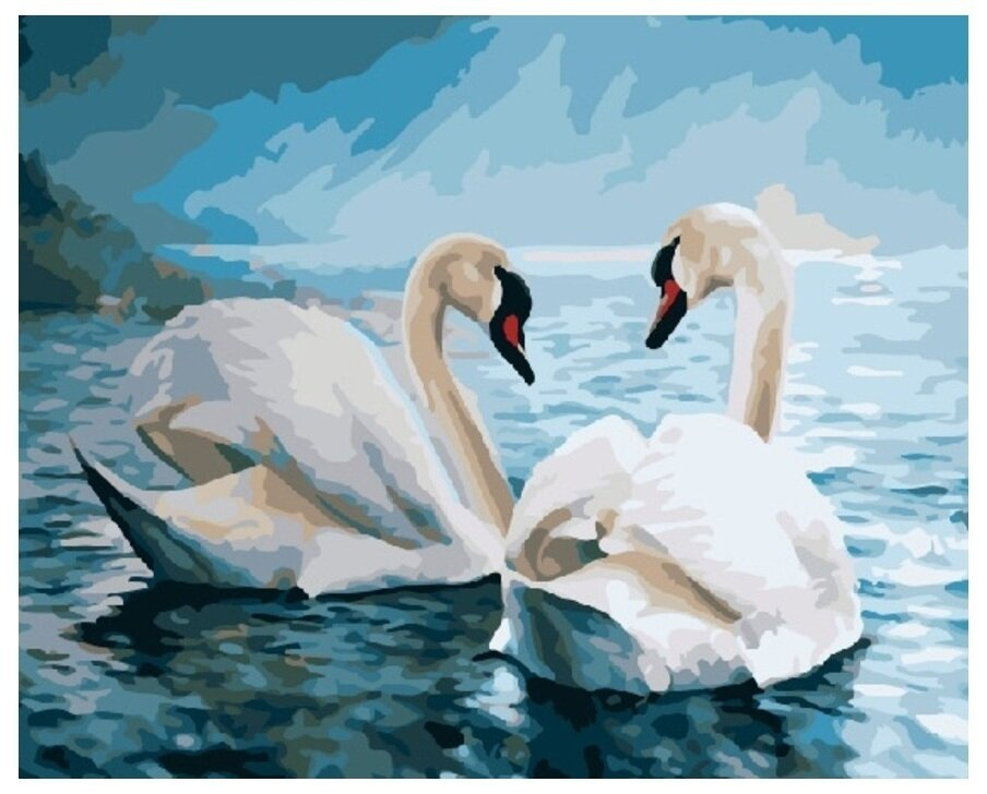 Картина по номерам GX 7648 Белые лебеди 40*50