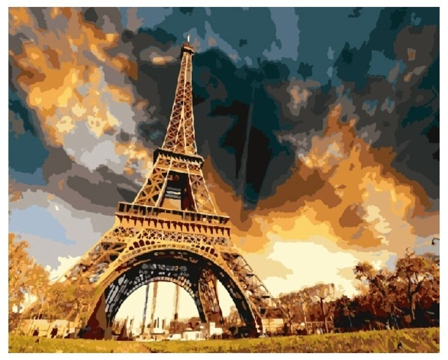 Картина по номерам GX 7914 Гроза над Эйфелевой башней 40*50
