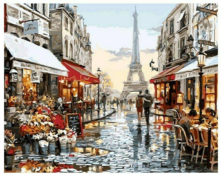 Картина по номерам GX 8090 Вдвоем по Парижу 40*50