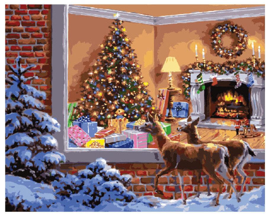 Картина по номерам GX 8139 Оленята в Новый год 40*50