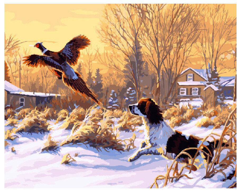 Картина по номерам GX 8197 Охота 40*50