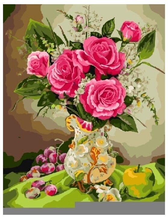 Картина по номерам GX 8256 Розы с фруктами 40*50