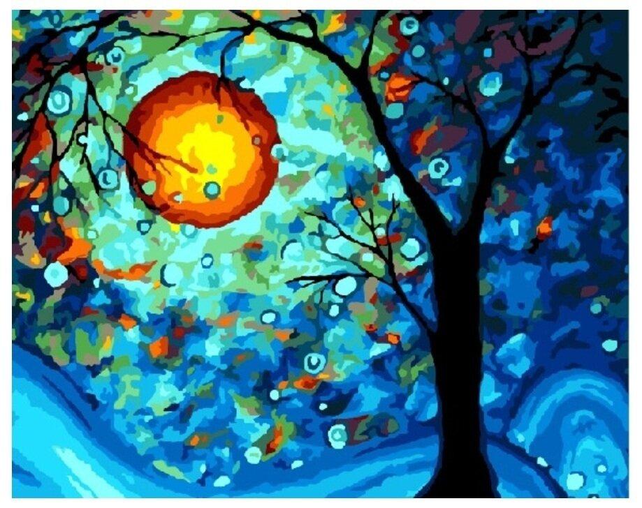 Картина по номерам GX 8296 Дерево желаний (Ван Гог) 40*50