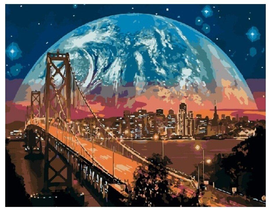 Картина по номерам GX 8312 Ночной Сан-Франциско 40*50