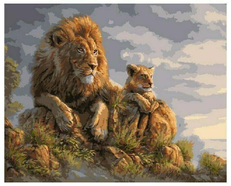 Картина по номерам GX 8459 Король Лев 40*50