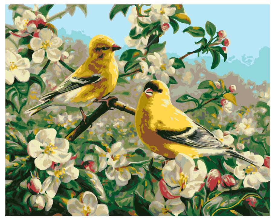 Картина по номерам GX 8476 Желтые птички 40*50