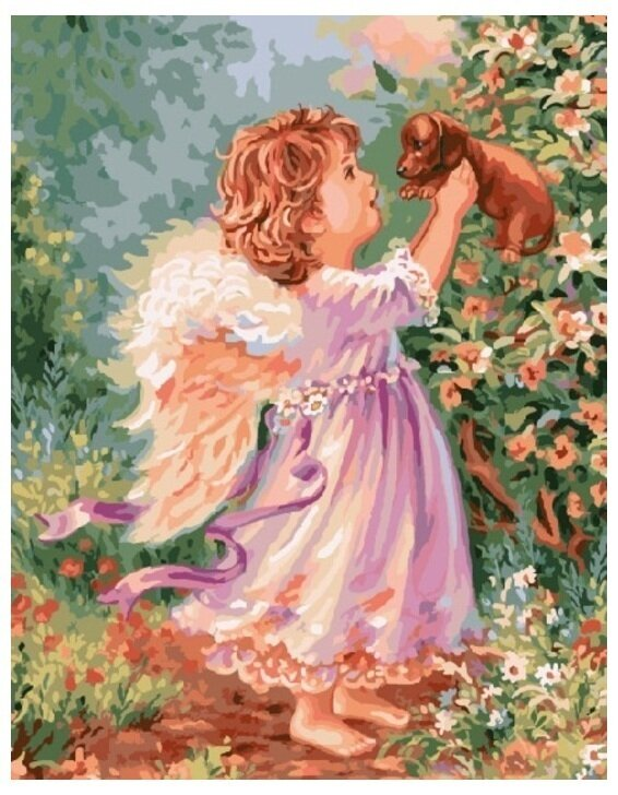 Картина по номерам GX 8482 Рыжий ангел 40*50