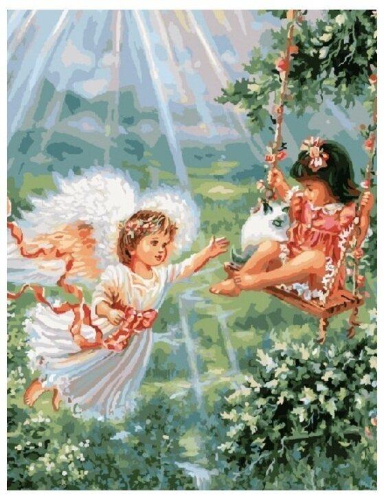 Картина по номерам GX 8488 Играющие ангелы 40*50