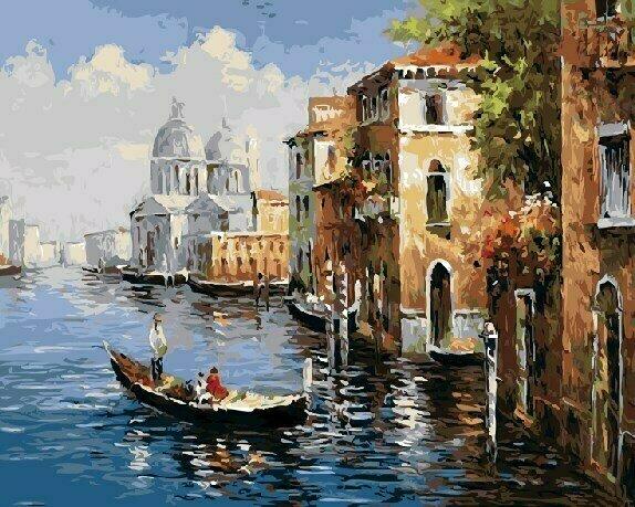 Картина по номерам GX 8606 Венеция 40х50 см