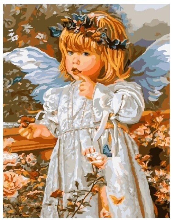 Картина по номерам GX 8959 Девочка-ангелочек 40*50
