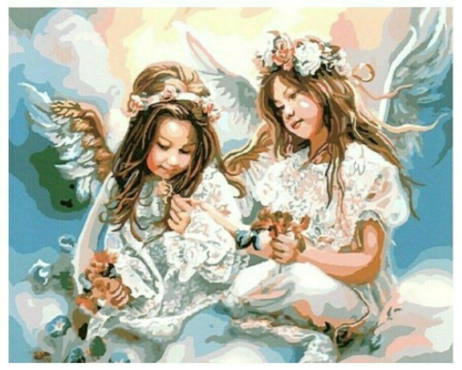 Картина по номерам GX 8963 Девочки-ангелы 40*50
