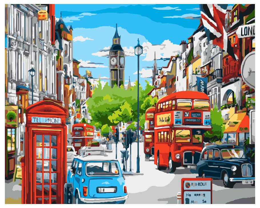 Картина по номерам GX 8969 Будни в Лондоне 40*50