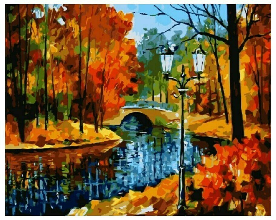 Картина по номерам GX 9045 Осень на всех берегах 40*50